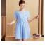 ชุดคลุมท้อง A63 ชุดคลุมท้องสีฟ้าอ่อน (ปักลาย) ราคา 280 บาท thumbnail 1
