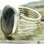 ซันสโตน Black Sunstone - แหวนเงินแท้ 925 (แหวนเบอร์ : 58) thumbnail 6