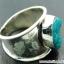 ทอร์ควอยซ์ Turquoise แหวนเงินแท้ 925 (แหวนเบอร์ : 58) thumbnail 5