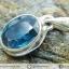 ไคยาไนต์ Teal Blue Kyanite -จี้เงินแท้ 925 (1.5g) thumbnail 1