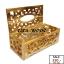 กล่องทิชชู่ฉลุ ไม้สักทอง สีเคลือบใส thumbnail 5