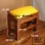 โต๊ะกราบ ไม้สักทองไซส์เล็ก [สีเหลือง] thumbnail 1
