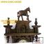 นาฬิกาแกะสลักสไตล์โรมัน(ม้า1ตัว)ไม้สักทอง สีโอ๊ค thumbnail 4