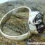 Campo Del Cielo Meteorite แหวนเงินแท้ 925 (แหวนเบอร์ : 61 ,4.9g) thumbnail 3