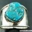 ทอร์ควอยซ์ Turquoise แหวนเงินแท้ 925 (แหวนเบอร์ : 58) thumbnail 1