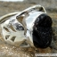 Black Aura Druzy แหวนเงินแท้ 925 (แหวนเบอร์ : 53 , 4.8g ) thumbnail 4