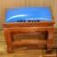 โต๊ะกราบ ไม้สักทองไซส์เล็ก [สีน้ำเงิน] thumbnail 3