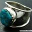 ทอร์ควอยซ์ Turquoise แหวนเงินแท้ 925 (แหวนเบอร์ : 58) thumbnail 3