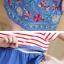 ชุดคลุมท้อง A66 ชุดคลุมท้องสีแดงขาว กระโปรงผ้ายีนส์ปักลาย ราคาส่ง 420 บาท thumbnail 7