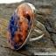 โซดาไลท์ Orange Sodalite แหวนเงินแท้ 925 (แหวนเบอร์ : 53 , 5.1g ) thumbnail 8