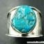 ทอร์ควอยซ์ Turquoise แหวนเงินแท้ 925 (แหวนเบอร์ : 58) thumbnail 2
