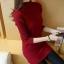 เสื้อไหมพรมแฟชั่นกันหนาว เสื้อสเวตเตอร์ สีไวน์แดง ดีเทลแต่งลายช่วงคอ ไอเท็มเด็ด หน้าหนาว ใส่แล้วชิค