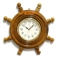 นาฬิกาพวงมาลัยเรือไม้สักทอง 16 นิ้ว thumbnail 2