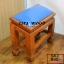 โต๊ะกราบ ไม้สักทองไซส์เล็ก [สีน้ำเงิน] thumbnail 2