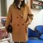 เสื้อโค้ทกันหนาวผู้หญิง สีน้ำตาล ยาวคลุมสะโพก ซับในบุนุ่ม ใส่เที่ยวต่างประเทศ รับลมหนาว สวยๆ