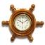 นาฬิกาพวงมาลัยเรือไม้สักทอง 10 นิ้ว thumbnail 2