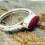ทับทิม Indian Ruby- แหวนเงินแท้ 925 (แหวนเบอร์ : 52 ,2.4g) thumbnail 2