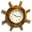 นาฬิกาพวงมาลัยเรือไม้สักทอง 14 นิ้ว thumbnail 4