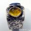 ไคยาไนต์-อำพัน Kyanite-Amber แหวนเงินแท้ 925 (แหวนเบอร์ : 58 , 4.4g ) thumbnail 5
