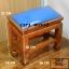โต๊ะกราบ ไม้สักทองไซส์เล็ก [สีน้ำเงิน] thumbnail 1