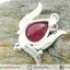 ทับทิมอินเดีย Indian Ruby- จี้เงินแท้ 925 (3.7g) thumbnail 5