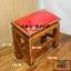 โต๊ะกราบ ไม้สักทองไซส์เล็ก [สีแดง] thumbnail 1