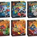10667-10672 Super Hero มินิฟิกเกอร์ MARVEL และ DC Comics พร้อมยานพาหนะ