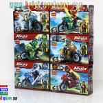 10029-34 มินิฟิกเกอร์ Ninja Tonado Motercycle เซ็ต 6 กล่อง