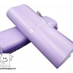 ซองจดหมายพลาสติก สีม่วงอ่อน ขนาด 25 x 35 cm