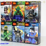 0211-0216 Mini Figures วัลเดอร์ วูแมน และซุปเปอร์ฮีโร่ DC Comics เซ็ต 6 กล่อง