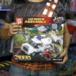 SY945 ของเล่นตัวต่อ Heroes Assemble สไปเดอร์-แมนปะทะกับ Vulture