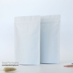 ถุงซิปล็อคก้นตั้ง สีขาวด้าน ขนาด 10 x 15 cm