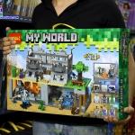 820 ของเล่นตัวต่อ MineWorld การโจมตีใจกลางเมือง 3D Real Skull City War