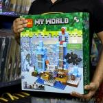 826 ของเล่นตัวต่อ MineWorld เมืองน้ำแข็ง 3D the Ice Spikes กับแมงมุมยักษ์
