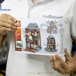 SD6095 Mini Street ของเล่นตัวต่อ China Town ร้านขายยาแผนโบราณสไตล์จีน