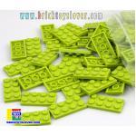 BRF004L ตัวต่ออิสระแผ่นบางสีเขียวอ่อน ขนาด 2x4 ปุ่ม น้ำหนัก 100 กรัมในถุงพลาสติกใส