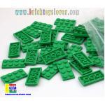 BRF004GN ตัวต่ออิสระแผ่นบางสีเขียว ขนาด 2x4 ปุ่ม น้ำหนัก 100 กรัมในถุงพลาสติกใส