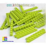 BRI004L ตัวต่ออิสระแผ่นบางสีเขียวอ่อน ขนาด 1x8 ปุ่ม น้ำหนัก 100 กรัมในถุงพลาสติกใส