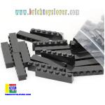 BRB005BK ตัวต่ออิสระสีดำ ขนาด 1x6 ปุ่ม น้ำหนัก 100 กรัมในถุงพลาสติกใส