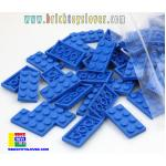 BRF004BL ตัวต่ออิสระแผ่นบางสีน้ำเงิน ขนาด 2x4 ปุ่ม น้ำหนัก 100 กรัมในถุงพลาสติกใส