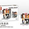 SD6080 Mini Street ของเล่นตัวต่อร้านขายเสื่อผ้าและอุปกรณ์กีฬา PUMA