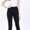 กางเกงสกินนี่(skinny) เอวสูงซิปหน้า เนื้อดี # XL สีดำ ส่งฟรี!!
