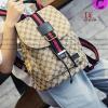 กระเป๋าเป้แฟชั่นนำเข้า คาดแถบ 2tone Style Gucci วัสดุผ้าแคนวาสหนา / พร้อมส่ง