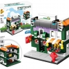 657008 Mini City StreetScape ของเล่นตัวต่อร้านขายผลไม้ Guozenruci Fruit Store
