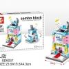 SD6037 Mini Street ของเล่นตัวต่อร้านผลิตภัณฑ์สำหรับเด็ก Baby Shop