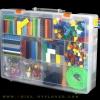PT004 ตัวต่ออิสระ คละแบบ คละสี 900 ชิ้นในกล่องพลาสติกใสแบบแบ่งช่อง 2 ชั้น