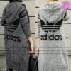 เสื้อกันหนาวไหมพรมตัวยาวสไตล์เกาหลี งานผ้าไหมพรมหนานุ่มใส่สบาย เหมือนแบบ 100% -- พร้อมส่ง