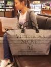 VICTORIA'S SECRET CANVAS GLITTER LARGE RUNWAY TRAVEL BAG - พร้อมส่ง