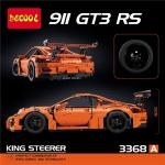 3368A King Steerer ของเล่นตัวต่อรถพอร์ช สปอร์ต Porsche 911 GT3-RS Sports Car