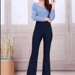 กางเกงยีนส์ยืด ขาม้าเล็ก สียีนส์เข้ม ออกแบบสวย ใส่สบายมากๆ ส่งฟรี